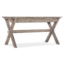 """Hooker Desk - Hooker Furniture Manuscript Desk, Wood in Gray/White, Size 31""""H X 60""""W X 30""""D"""