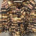 J. Crew Jackets & Coats | Jcrew Madras Jacket | Color: Blue/Brown | Size: 8