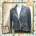 Michael Kors Jackets & Coats | Michael Kors Petite Denim Jacket Size Med | Color: Blue | Size: Mp