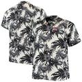 Men's Tommy Bahama Black Ohio State Buckeyes Big & Tall Sport Harbor Island Hibiscus Camp Button-Up Shirt