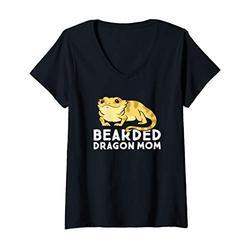 Womens Funny Bearded Dragon Mom Gift Mom Of Bearded Dragon V-Neck T-Shirt