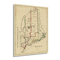 HISTORIX Vintage 1820 Maine State Map - 18x24 Inch Maine State Vintage Map - Wall Map Maine State Wall Art - Vintage Maine Map Poster - Old Map of Maine Wall Art - Maine Poster Map (2 Sizes)
