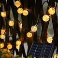 Solar String Lights Outdoor,Solar Powered String Lights with 50 LED 31FT,IP65 Waterproof Outdoor String Lights for 8 Models,Solar Globe Outdoor String Lights,LED Hanging String (White)