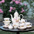 One Allium Way® Nolen Porcelain Tea Set for 2 People Porcelain China/Ceramic in Pink/White, Size 1.0 H x 1.0 W x 1.0 D in   Wayfair