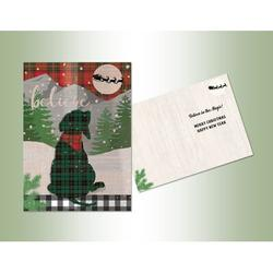 The Holiday Aisle® Believe Die Cut Card in Gray/Green/Red, Size 7.0 H x 5.0 W x 1.0 D in | Wayfair 8DC937879EA449A0A903D37128E349B7