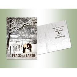 The Holiday Aisle® Peace on Earth Exceptional Value Card in Black/Gray/White, Size 7.0 H x 5.0 W x 1.0 D in   Wayfair