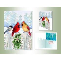 The Holiday Aisle® Fence Friends Die Cut Card in Green/Red/White, Size 7.0 H x 5.0 W x 1.0 D in | Wayfair C3B41F4631B44F3D91FF3E7C643275E8