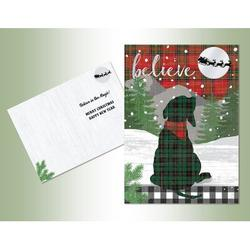 The Holiday Aisle® Believe Embossed Foil Card in Green/Red/White, Size 7.75 H x 5.5 W x 1.0 D in   Wayfair 3A4F928333D64605A1732E3F6CFA1BE3