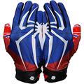 Repster Football Gloves - Tacky Grip Skin Tight Adult Football Gloves - Enhanced Performance Football Gloves Men - Spider - Men Pro Elite Super Sticky Receiver Football Gloves - Adult Sizes (X-Large)