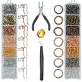 TWBOCV Earring Hooks Earring Making Kit, with Jump Rings, Earring Hooks, Pliers, Tweezers, Jump Ring Opener, Earring Making Supplies Kit 1610 Pieces for Jewelry Making and Repair