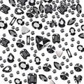 260 Pieces Glass Rhinestone Sew On Rhinestones Sewing Claw Crystal Rhinestone in Mixed Shapes with Silver Prong Hole for Costume Dress Belt Bag DIY Crafts (Black)
