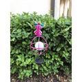 Arlmont & Co. Allegra Garden Stake Light Metal in Pink, Size 47.0 H x 6.0 W x 6.0 D in   Wayfair 0E3D02308C814249A132C9F48D10CC22