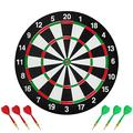 Sxfcool Double-Sided Dart Board Adult Dart Board Game Bullseye Dart Board Set with 6 Darts Suitable for Holiday Party Family Games