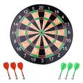 Sxfcool 17-Inch Magnetic Dart Board Dart Board Set Safety Dart Target with 6 Magnet Dart Arrows, Suitable for Indoor Games for Children and Adults