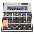 Rehomy Solar Calculator, 14-Digit Calculator Battery Solar Dual Power Office Desktop Financial Calculator with Large LCD Screen
