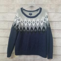 American Eagle Outfitters Sweaters | American Eagle Blue Gray Diamond Pattern Sweater S | Color: Blue/Gray | Size: Various