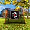 GaGalileo 12' x 4' Fabric Golf w/ Carrying Case Fabric in Black, Size 120.0 H x 144.0 W x 48.0 D in | Wayfair GG-0019