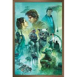 "Trends International Star Wars: The Empire Strikes Back - Celebration Mural Wall Poster, 14.725"" x 22.375"", Bronze Framed Version"