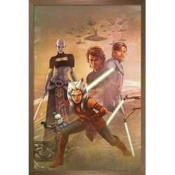 "Trends International Star Clone Wars-Celebration Mural Wall Poster, 14.725"" x 22.375"", Bronze Framed Version"