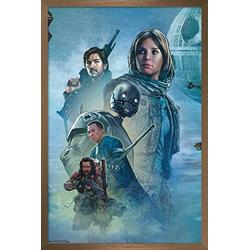 "Trends International Star Wars: Rogue One - Celebration Mural Wall Poster, 14.725"" x 22.375"", Bronze Framed Version"