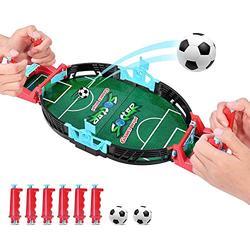 Mini Football Tabletop Arcade Game Finger Battle Athletic Soccer Game Power Shot Football Skills Floor Board Game for Kids Adults Table Soccer