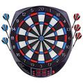 OUKITEL Electronic Dart Board, Dartboard Games Scoreboard Darts Board Set with 6 Darts, Spare Tips, 27 Games and 243 Variants for 8 Players Professional Reduced Bounce-Outs, Durability