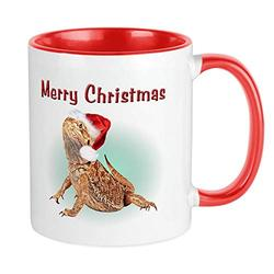 CafePress Bearded Dragon Merry Christmas Mug Unique Coffee Mug, Coffee Cup