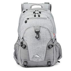 High Sierra Loop Backpack, School, Travel, or Work Bookbag with tablet sleeve, Silver Heather, One Size