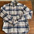 J. Crew Shirts | J Crew Crew Neck Flannel Button Down Shirt | Color: Blue/Gray | Size: M