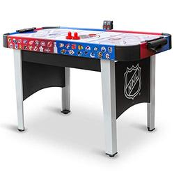 """48"""" Mid-Size NHL Rush Indoor Hover Hockey Game Table; Easy Setup, Air-Powered Play with LED Scoring, Black"""