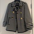 Kate Spade Jackets & Coats | Kate Spade Broome Street Striped Jacket Size 4 | Color: Black/White | Size: 4