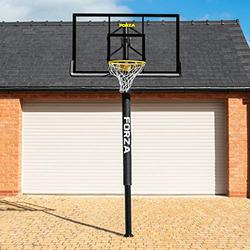 FORZA Basketball Post & Hoop [Socketed]   Adjustable Basketball Hoop   Outdoor Basketball Hoop & Post System   Basketball In-Ground Hoops & Goals   Basketball Hoop Outdoor (56in x 37in Backboard)