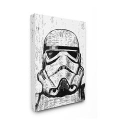 Disney's Star Wars Black & White Stormtrooper Canvas Wall Art by Stupell Home Decor, 16X20