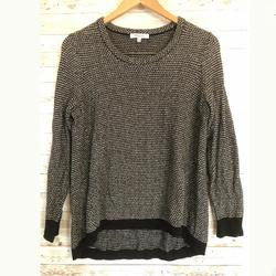 Madewell Sweaters | Madewell Knit Black White Pullover Jumper-Small | Color: Black/White | Size: S