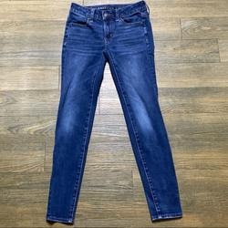 American Eagle Outfitters Jeans | American Eagle Skinny Denim Jegging Jean 00 S | Color: Blue | Size: 00