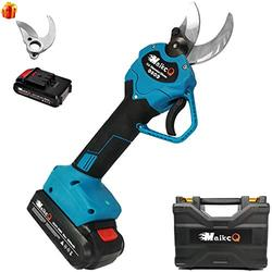 Professional Cordless Electric Pruning Shears with 2 PCS Backup Rechargeable 2Ah Lithium Battery Powered Shears Fruit Tree Pruning Scissors Garden Pruning Thick Branch Shears Electric Shears(Blue)