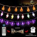 Halloween Decorations Lights Halloween String Lights Battery Operated 8 Modes Waterproof 30LEDs Each Fairy String Lights for Outdoor Indoor Halloween Party Decorations (3Pack)