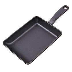 BEIHG Cast Iron Skillet Masterclass Cookware Cast Iron Skillet by Legend Cast Iron Cast Iron 8-inch Square Grill Pan, Black