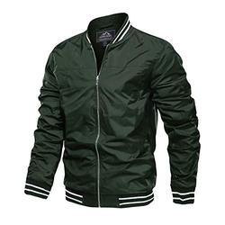 Mens Bomber Jacket Lightweight Men Casual Jacket Baseball Jacket Men Varsity Jackets Aviator Jackets Windbreaker Jacket Spring Fall Jackets Letterman Jacket Mens Classic Jackets