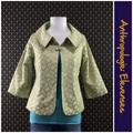 Anthropologie Jackets & Coats | Anthro Brocade Swing Jacket By Elevenses | Color: Gold/Green | Size: 8