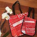 Lululemon Athletica Bags | Lululemon Reusable Tote Gym Bags | Color: Red/White | Size: Os