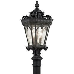 Kichler Tournai Outdoor 3-Light Lantern Head Metal in Black, Size 27.0 H x 12.0 W x 12.0 D in   Wayfair 9558BKT