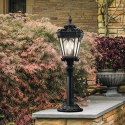 Kichler Tournai Outdoor 4-Light Lantern Head Metal in Black, Size 30.0 H x 14.0 W x 14.0 D in   Wayfair 9559BKT