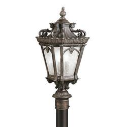 Kichler Tournai Outdoor 4-Light Lantern Head Metal in Brown, Size 230.0 H x 14.0 W x 14.0 D in | Wayfair 9559LD