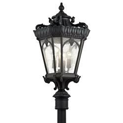 Kichler Tournai Outdoor 4-Light Lantern Head Metal in Black, Size 37.5 H x 17.0 W x 17.0 D in | Wayfair 9565BKT