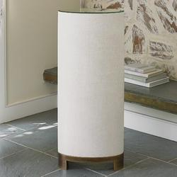 Studio A Home Ellipse Pedestal Telephone Table Mirrored/Metal in Brown, Size 42.0 H x 12.5 W x 17.5 D in | Wayfair 7.20090