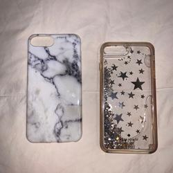 Kate Spade Accessories | 3 Cases Marble Iphone 8 Plus Case 2 Kate Spade | Color: Gray/White | Size: Os
