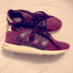 Adidas Shoes | Adidas Zx Flux 500 Sport Maroon Suede Sneakers | Color: Red | Size: 6