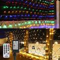 BrizLabs Color Changing Christmas Net Lights, 11.8ftx 4.9ft 360 LED Connectable Net Lights with Remote, 8 Modes Outdoor Bush Lights Mesh Christmas Decorative Lights for Xmas Trees Bushes Garden Decor
