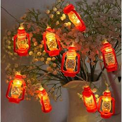 Quenny Solar String Light, Outdoor Garden Star Lantern,Halloween Kerosene Bottle Retro Lantern String. (6 Meters 40 Lights Battery Model with Flashing, Black)